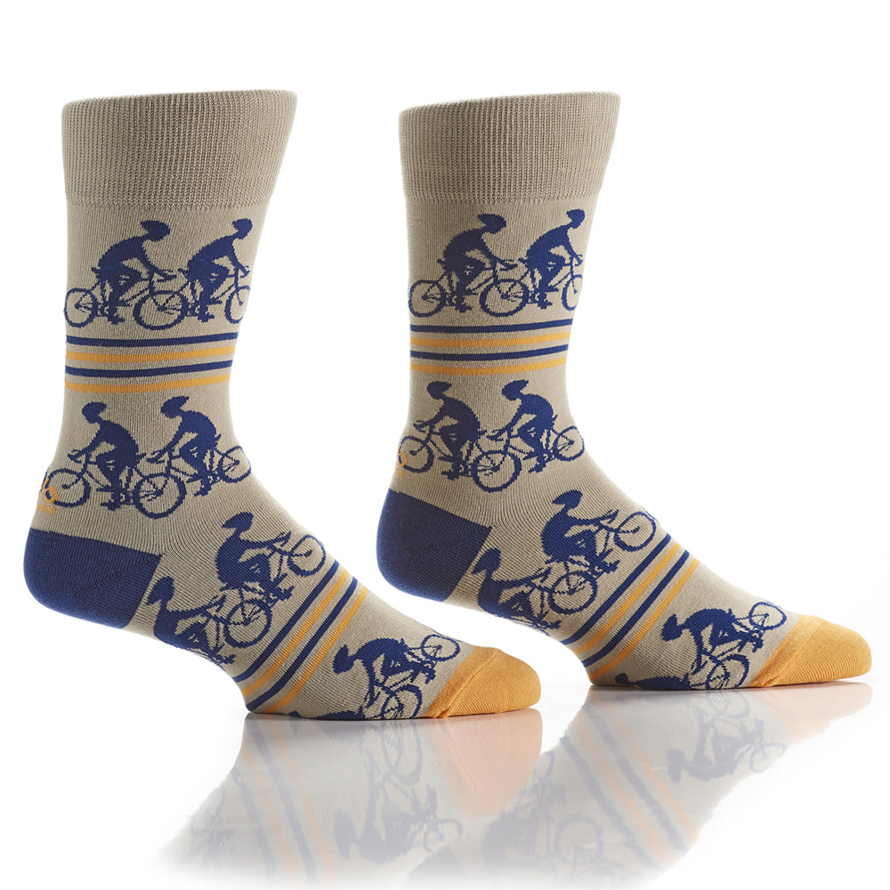Let's Tandem: Men's Crew Socks - Yo Sox Canada