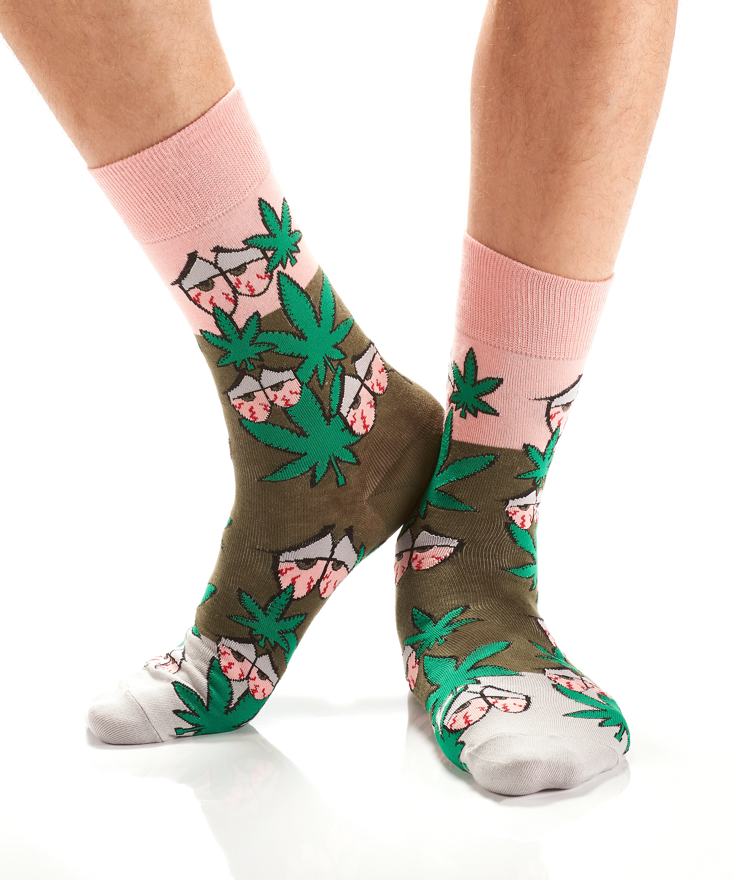 High Times: Men's Crew Socks - Yo Sox Canada
