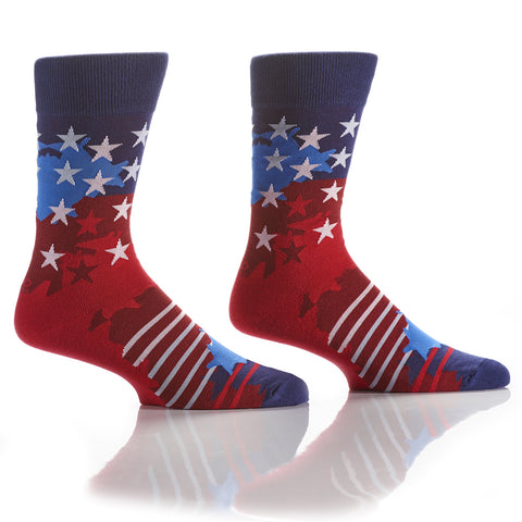 Red, White & Blue: Men's Crew Socks - Yo Sox Canada