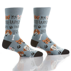 Four Legged Friend: Men's Crew Socks - Yo Sox Canada
