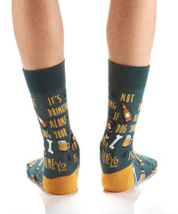 For the Guys: Drinking Buddy: Men's Crew Socks - Yo Sox Canada