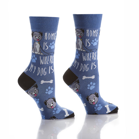 Welcome Home: Women's Crew Socks - Yo Sox Canada