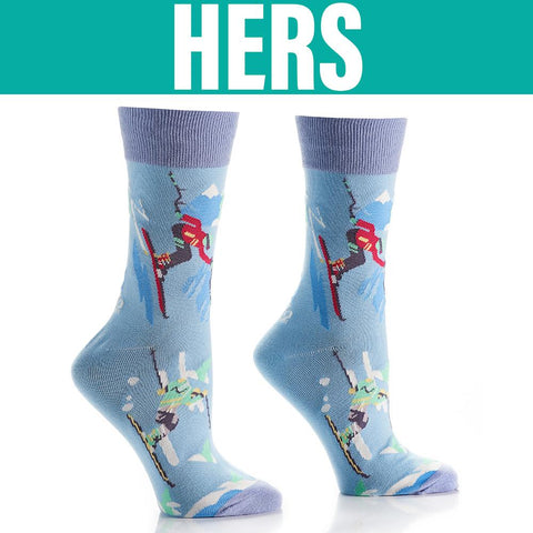 Slope Style: His & Hers Socks - Yo Sox Canada