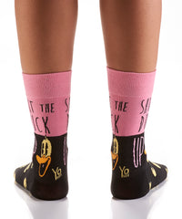 Duck Face: Women's Crew Socks - Yo Sox Canada