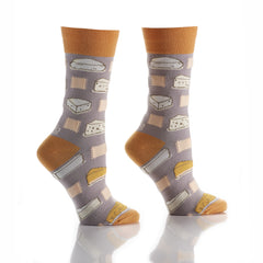 Say Cheese: Women's Crew Socks - Yo Sox Canada
