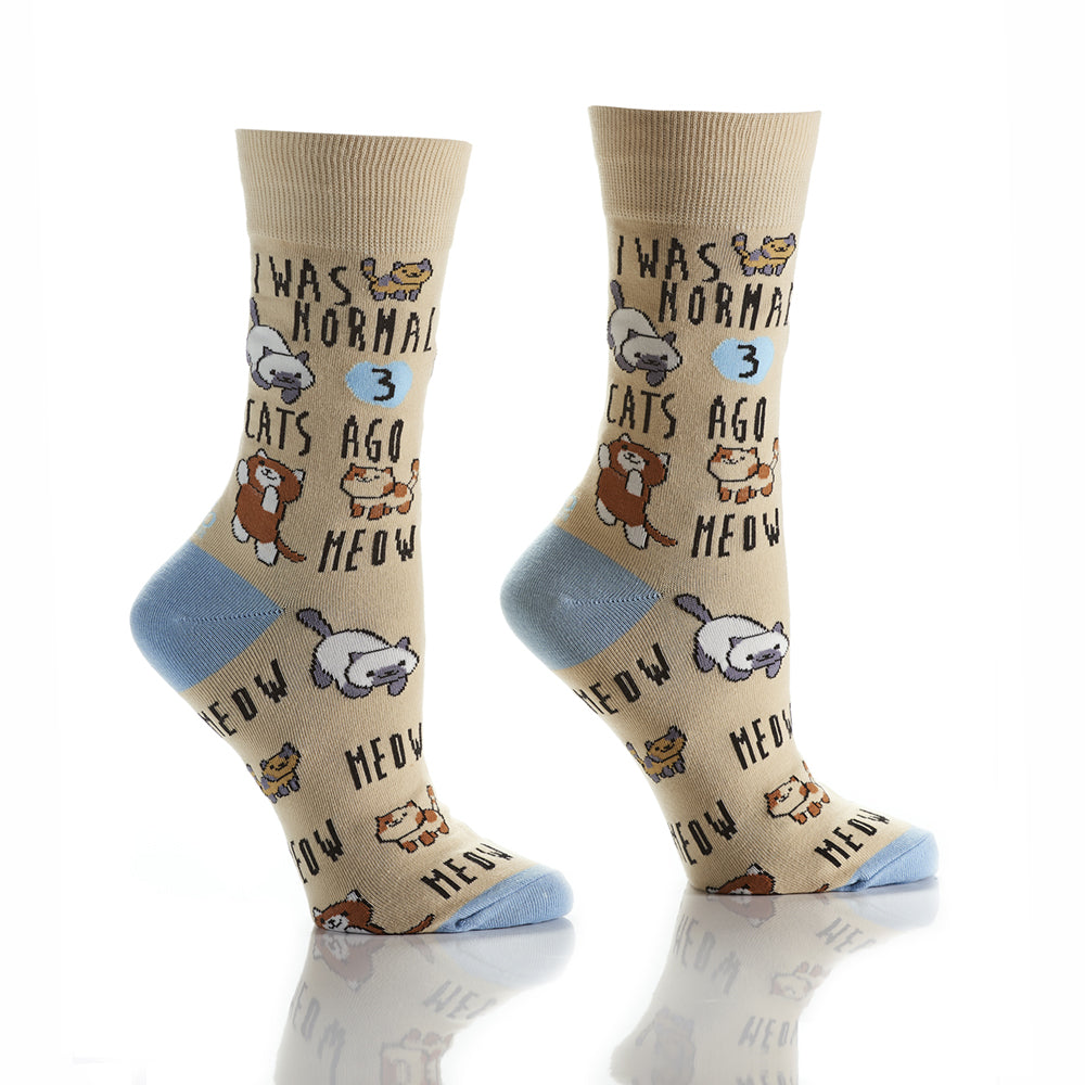 Cool Cat Lady: Women's Crew Socks - Yo Sox Canada