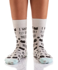Right MEOW: Women's Crew Socks - Yo Sox Canada