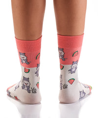 Hungry Hippo: Women's Crew Socks - Yo Sox Canada