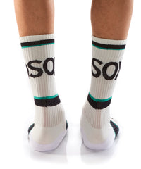 White Athletic Crew Socks - Yo Sox Canada