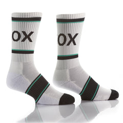 White Athletic Crew Socks