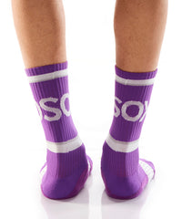 Purple Athletic Crew Socks - Yo Sox Canada