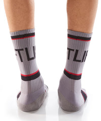 Grey Athletic Crew Socks - Yo Sox Canada