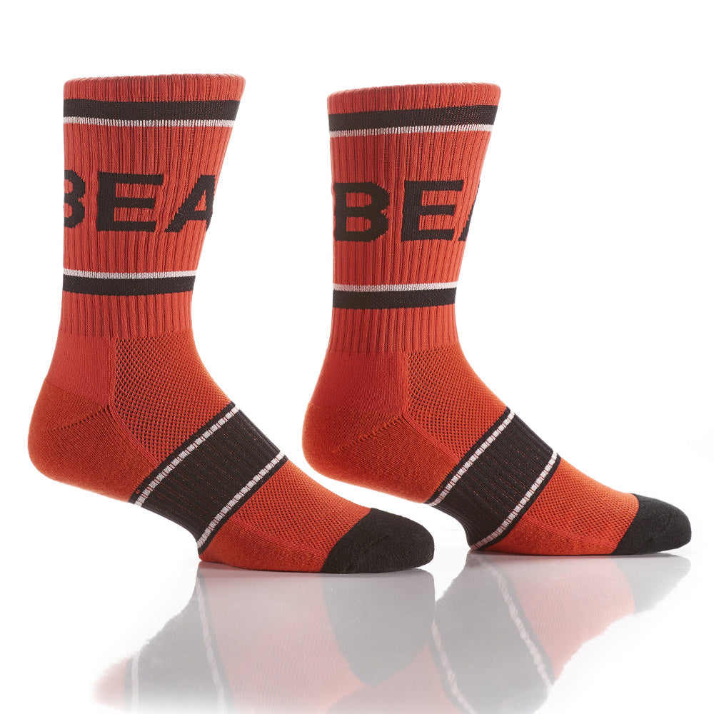 Orange Athletic Crew Socks - Yo Sox Canada