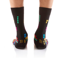 Tetrominoes: Men's Crew Socks - Yo Sox Canada