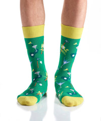 19th Hole: Men's Crew Socks - Yo Sox Canada