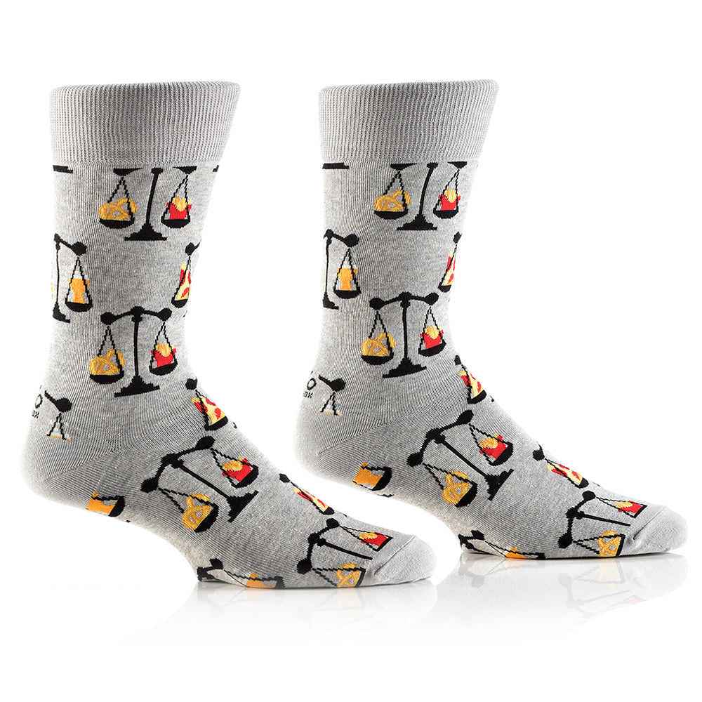 Balanced Diet: Men's Crew Socks - Yo Sox Canada