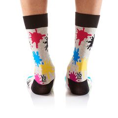 Art Attack: Men's Crew Socks - Yo Sox Canada