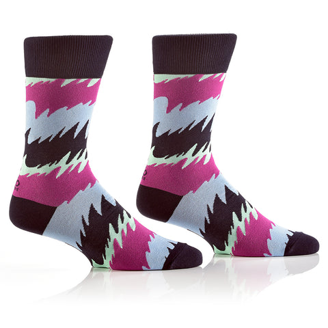 Wavy: Men's Crew Socks - Yo Sox Canada