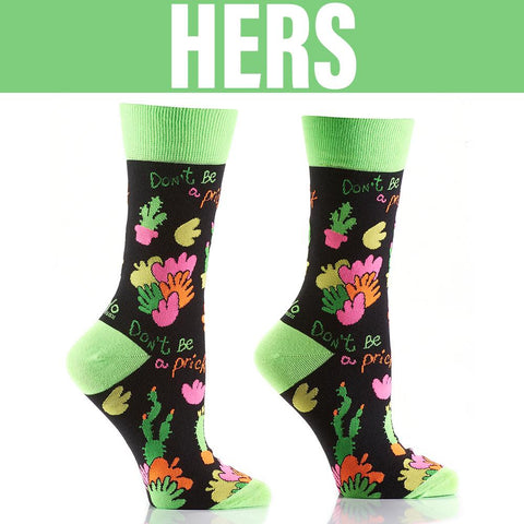 Don't be a Prick: His & Hers Socks - Yo Sox Canada