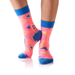 Triangles on Triangles: Women's Crew Socks - Yo Sox Canada