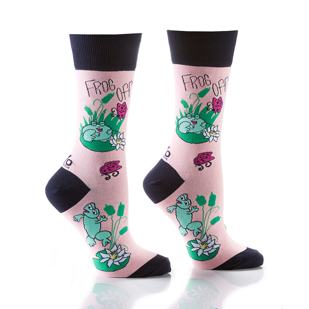 Frog Off: Women's Crew Socks - Yo Sox Canada