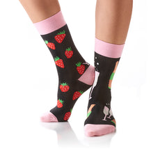 Bubbly & Berries: Women's Crew Socks - Yo Sox Canada