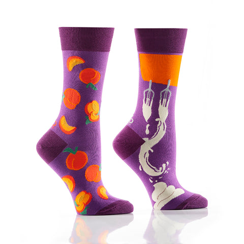 Peaches & Cream: Womens' Crew Socks - Yo Sox Canada