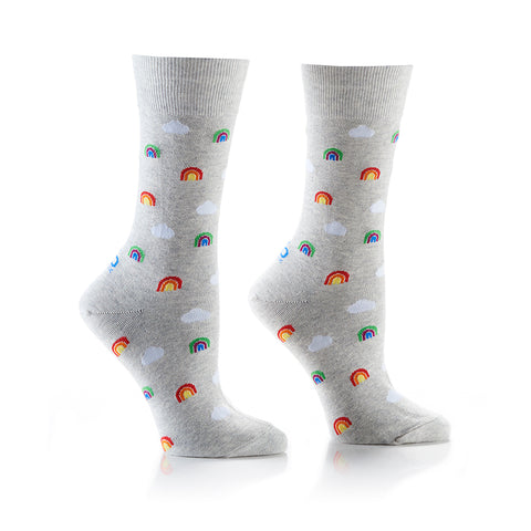 Teeny Tiny Rainbows: Women's Crew Socks - Yo Sox Canada