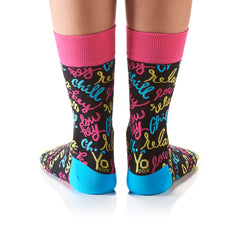 Chill Out: Women's Crew Socks - Yo Sox Canada