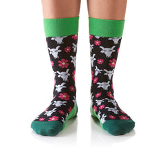 Moo Meadows: Women's Crew Socks - Yo Sox Canada