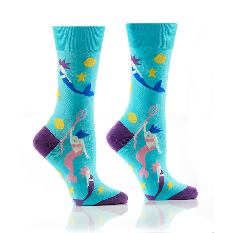 Aqua Girl: Women's Crew Design - Yo Sox Canada