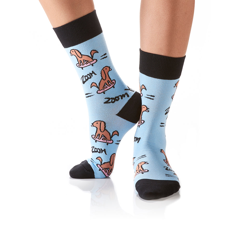 Zoom Zoom: Women's Crew Socks