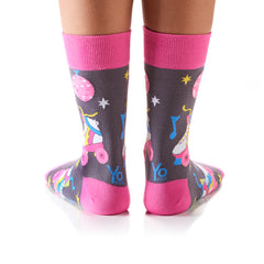 Retro Roller: Women's Crew Socks