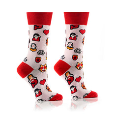 Frequently Used Emojis: Women's Crew Socks - Yo Sox Canada