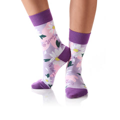 He Loves Me: Women's Crew Socks - Yo Sox Canada