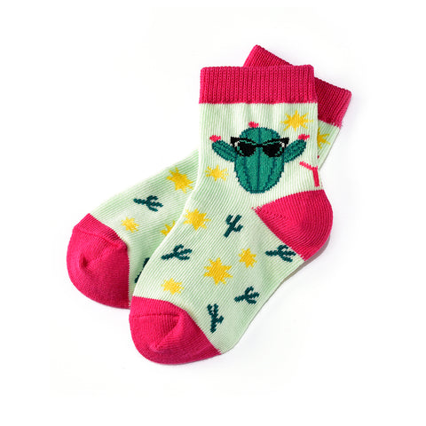 Cool Cactus: Toddler Socks (Age 1-2) - Yo Sox Canada