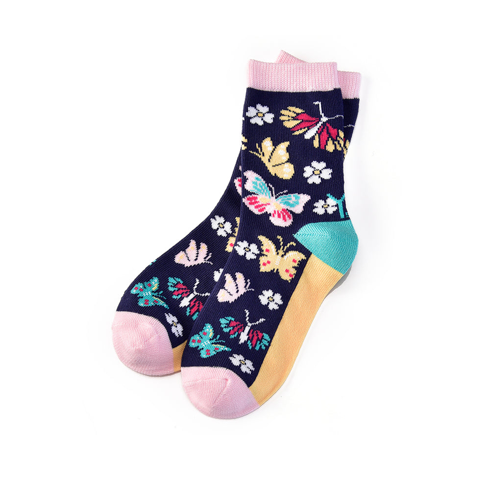 Butterfly Garden: Youth Socks (Age 7-10) - Yo Sox Canada