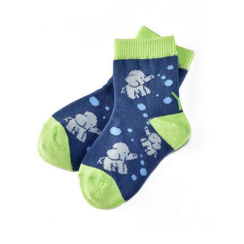 Elephant Fun: Toddler Socks (Age 1-2) - Yo Sox Canada