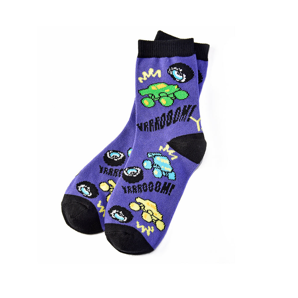 Monster Truck: Youth Socks (Age 7-10) - Yo Sox Canada