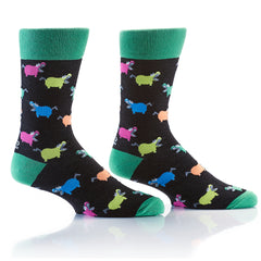 Hangry Hippo: Men's Crew Socks - Yo Sox Canada