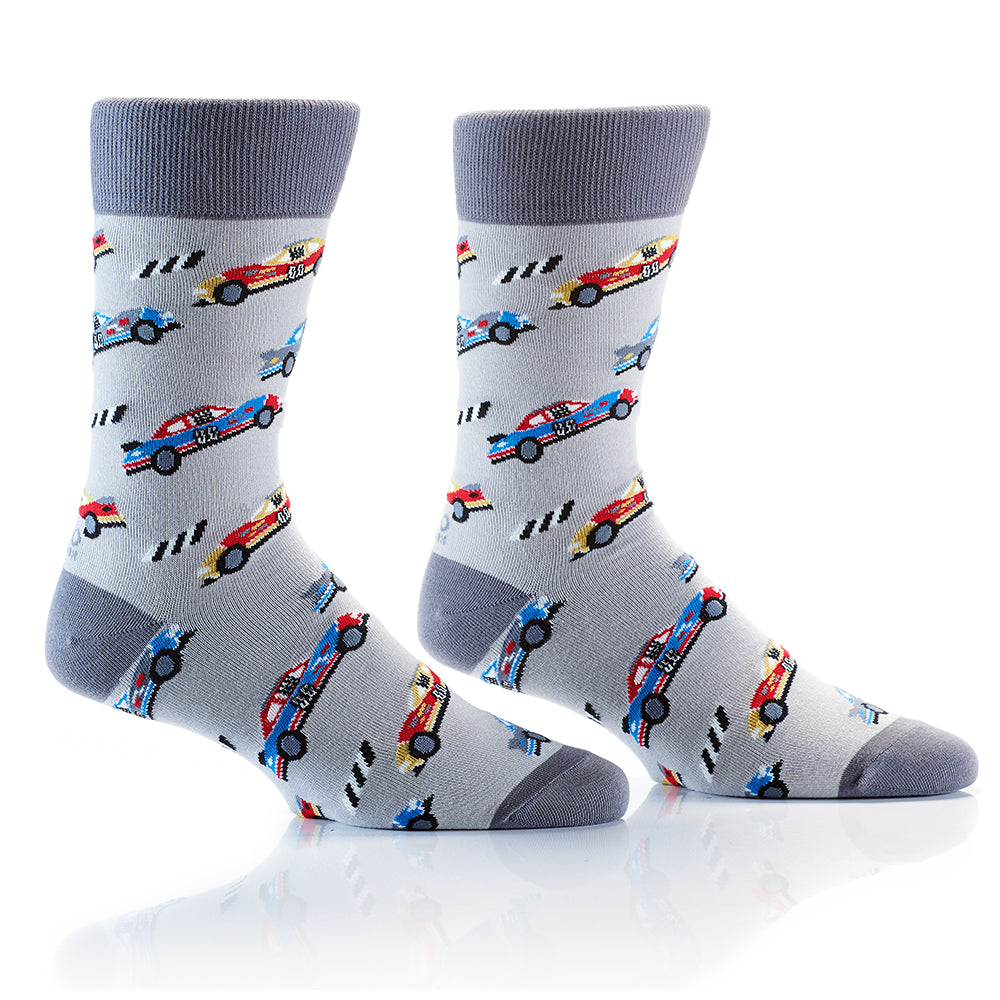 Racing Car: Men's Crew Socks