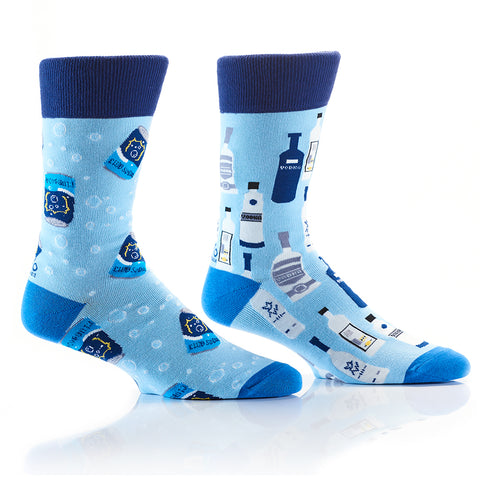 Vodka Soda: Men's Crew Socks - Yo Sox Canada