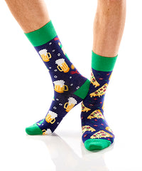 Pizza & Beer: Men's Crew Socks - Yo Sox Canada