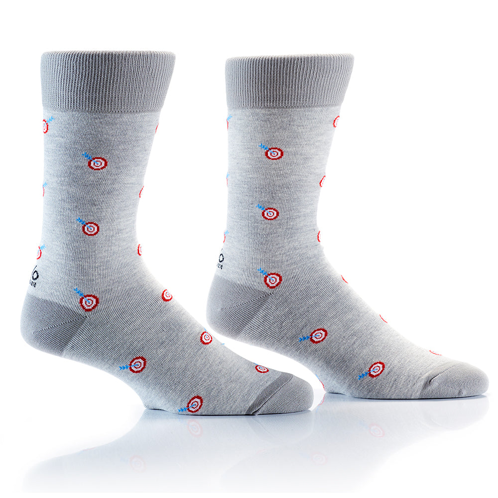 Bulls Eye: Men's Crew Socks - Yo Sox Canada