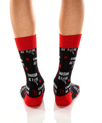 Canadian As Puck: Men's Crew Socks - Yo Sox Canada