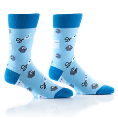 Rock Paper Scissors: Men's Crew Socks - Yo Sox Canada