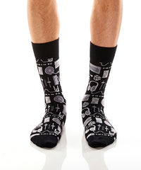 Studio Sounds: Men's Crew Socks - Yo Sox Canada