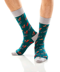 Burnout: Men's Crew Socks - Yo Sox Canada
