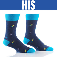 Great Balls Of Fire: His & Hers Socks