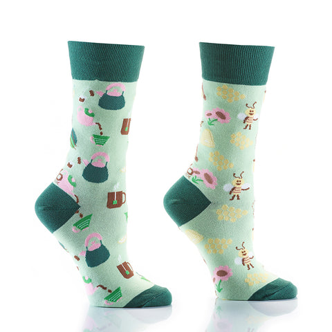Tea & Honey: Women's Crew Socks - Yo Sox Canada